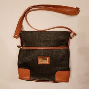 Valentina crossbody bucket genuine leather bag